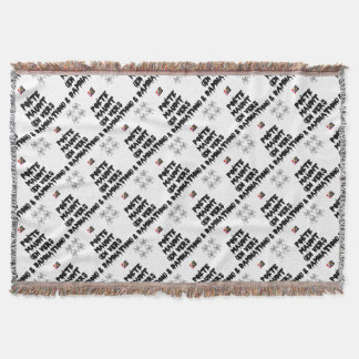 Accursed poet (IN WORMS AND DAMNATION) - Word Throw Blanket