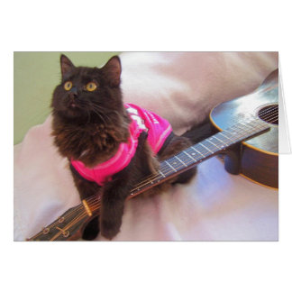 ACDC shirt  cat Card