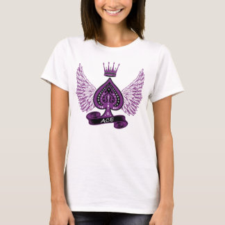 Ace Asexual LGBT Pride Wings and Crown T-Shirt