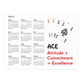 ACE Attitude + Commitment = Excellence Postcard