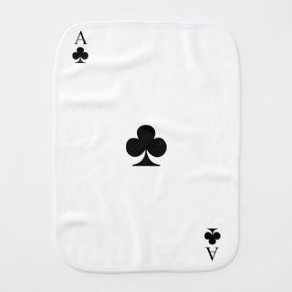 Ace of Clubs Burp Cloth