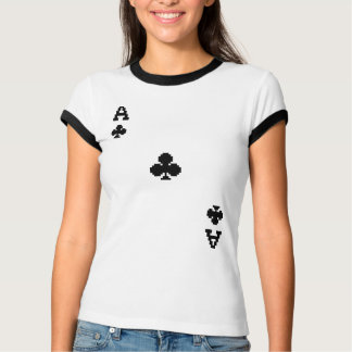 Ace of Clubs Pixelated Clubs T-Shirt