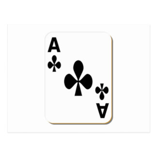Ace of Clubs Playing Card Postcard