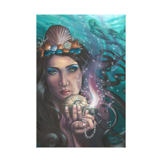 Ace of Cups Mermaid Canvas Art