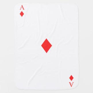 Ace of Diamonds Baby Blanket