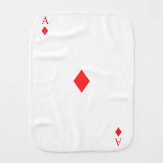 Ace of Diamonds Burp Cloth