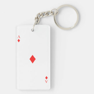 Ace of Diamonds Key Ring