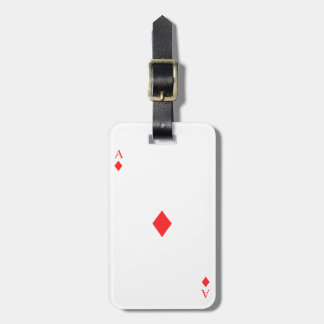 Ace of Diamonds Luggage Tag
