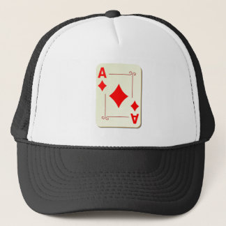 Ace of Diamonds Playing Card Trucker Hat