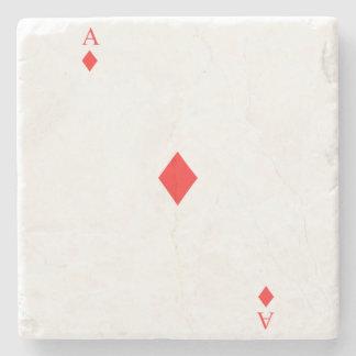 Ace of Diamonds Stone Coaster