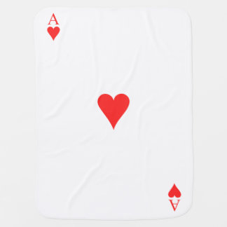 Ace of Hearts Baby Blanket