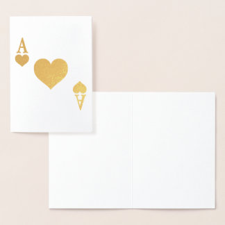 Ace of Hearts Foil Card