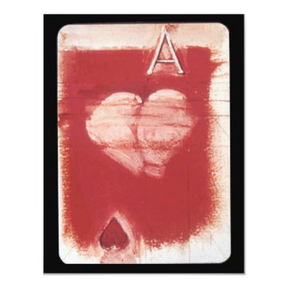 Ace Of Hearts Playing Card Game Party Invitation