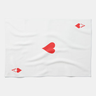Ace of Hearts Tea Towel