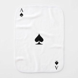 Ace of Spades Burp Cloth