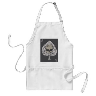 Ace of Spades Decorative Skull Aprons