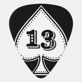 Ace of Spades Number 13 Rock and Roll Plectrum
