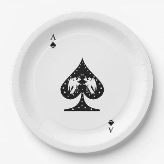 Ace of Spades Paper Plate