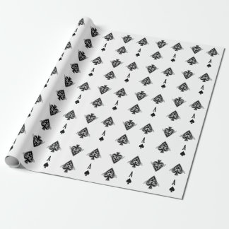 Ace of Spades Poker Wrapping Paper