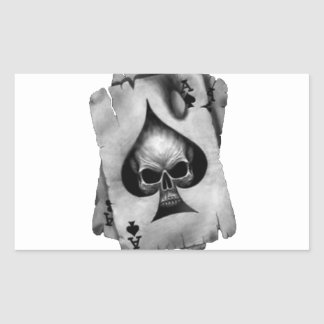 Ace of Spades Skull Rectangular Sticker