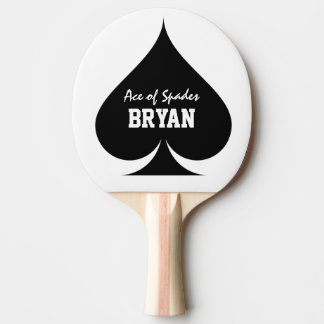 Ace of spades table tennis ping pong paddle