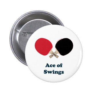 Ace of Swings Ping Pong 6 Cm Round Badge
