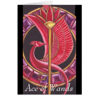 Ace of Wands Greeting Card