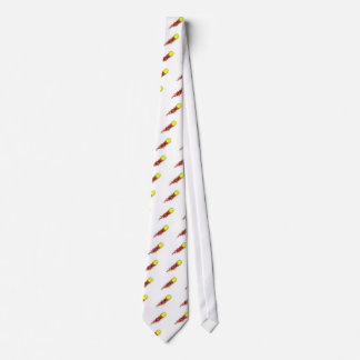 ace tennis ball on fire flames tie