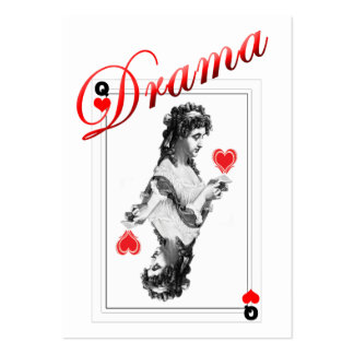 ACEO ATC drama queen red heart WITHOUT DOT Business Card