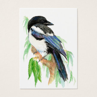 ACEO ATC Magpies Business Card