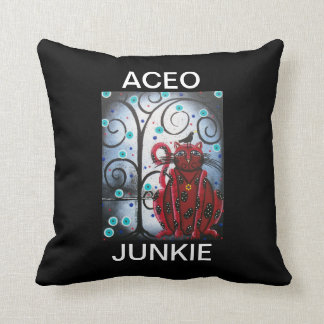ACEO JUNKIE By Lori Everett American MoJo Pillow