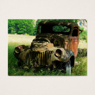 ACEO Rusty old Farm Truck Photo