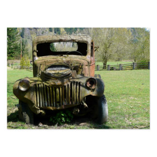 ACEO Rusty old Farm Truck Photo Business Card