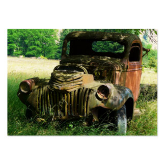 ACEO Rusty old Farm Truck Photo Pack Of Chubby Business Cards