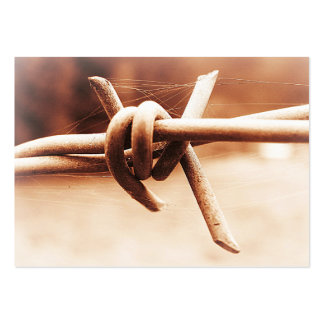ACEO Sepia Barbed Wire Close Up Business Card Template