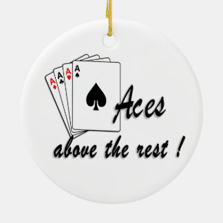 Aces Above the Rest Round Ceramic Decoration