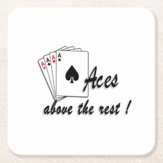 Aces Above the Rest Square Paper Coaster