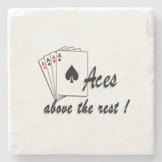 Aces Above the Rest Stone Coaster