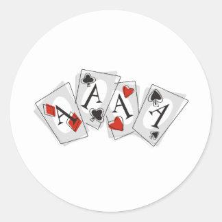 Aces High Round Sticker