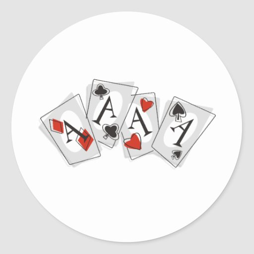 Aces High Round Stickers