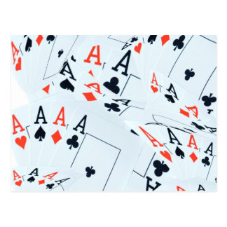 Aces In A Layered Poker Cards Pattern,