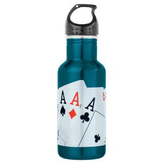 Aces, Poker Cards, 532 Ml Water Bottle