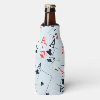 Aces, Poker Cards, Bottle Stubby Cooler Holder