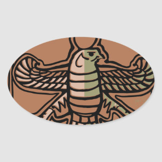 Achaemenid Empire by AncientAgesPrints Oval Sticker