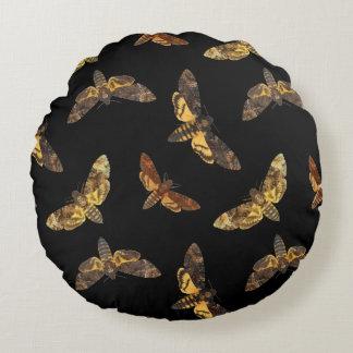Acherontia Lachesis - Death's-head Hawkmoth Round Cushion