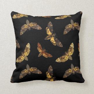 Acherontia Lachesis - Death's-head Hawkmoth Throw Cushions