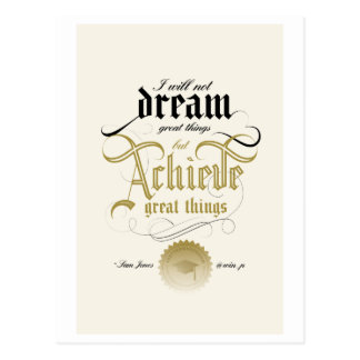 Achieve Great Things Postcard
