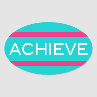 Achieve - Inspiration Workout And Fitness Oval Sticker