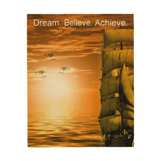 achievement motivational inspirational quote wood wall art