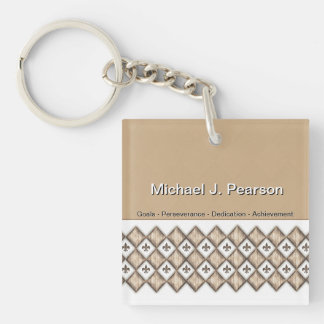 Achievement Recognition Key Chain 2 Sided